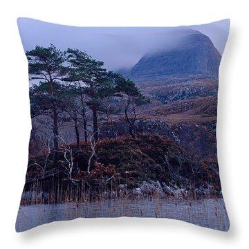 Loch Druim Suardalain Throw Pillow