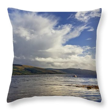 Throw Pillow featuring the photograph Loch Fyne Scotland by Jane McIlroy