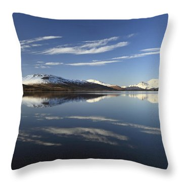 Loch Lomond Reflection Throw Pillow