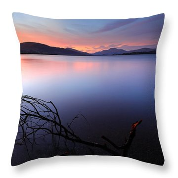 Loch Lomond Sunset Throw Pillow
