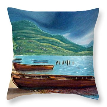 Loch Maree Scotland Throw Pillow