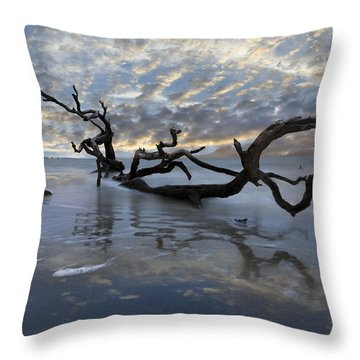 Loch Ness Throw Pillow by Debra and Dave Vanderlaan