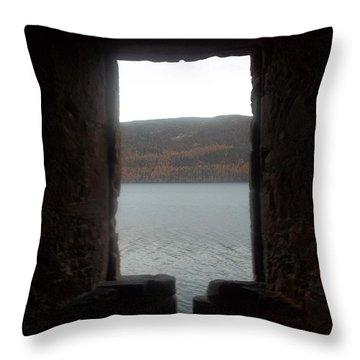 Loch Ness Portal Throw Pillow