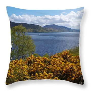 Loch Ness - Springtime Throw Pillow