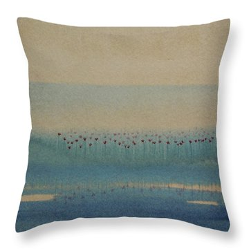 Throw Pillow featuring the painting Loch Of My Heart by Mini Arora
