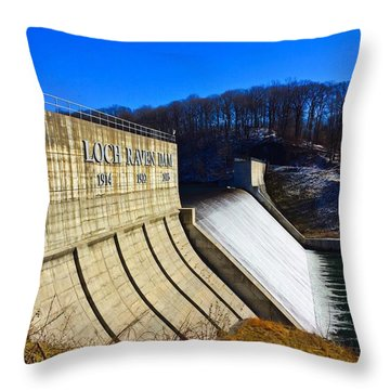 Loch Raven Dam Throw Pillow