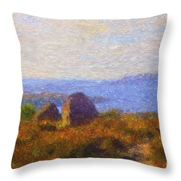 Loch View Throw Pillow by Diane Macdonald