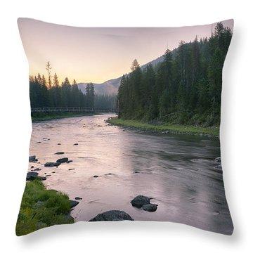 Lochsa Dawn Throw Pillow