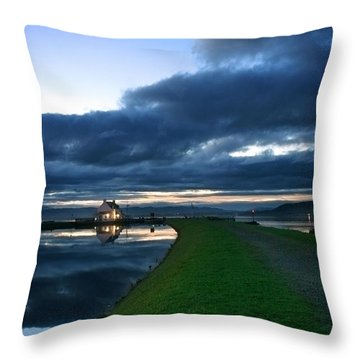 Lock House Throw Pillow