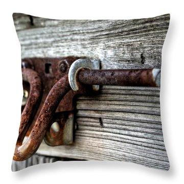 Lock Throw Pillow