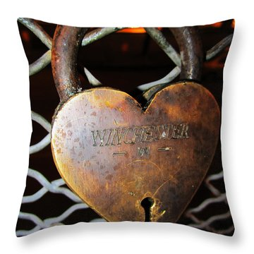 Lock Of Love Throw Pillow by Kym Backland