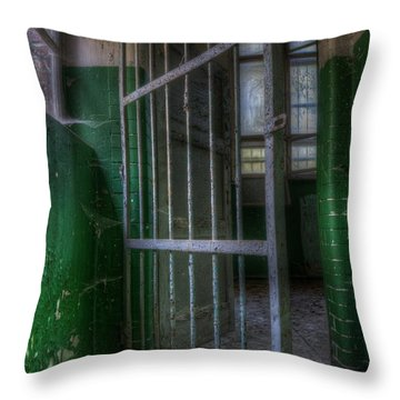 Lock Up Throw Pillow by Nathan Wright