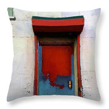 Locked Door, Hell's Kitchen Throw Pillow by RC deWinter