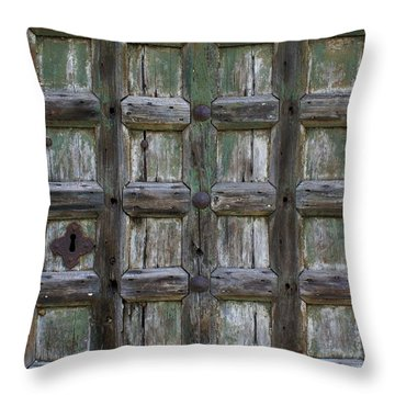 Throw Pillow featuring the digital art Locked Door by Ron Harpham