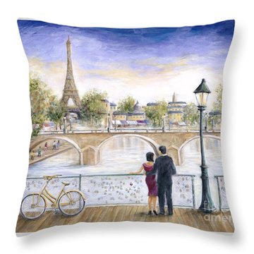Locked In Love Throw Pillow by Marilyn Dunlap