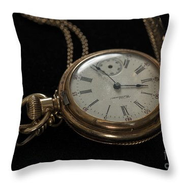 Locket Watch Throw Pillow