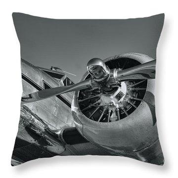 Lockheed 12a Electra Junior  Throw Pillow by Olga Hamilton