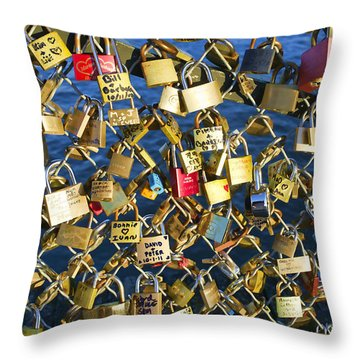 Locks Of Love Throw Pillow