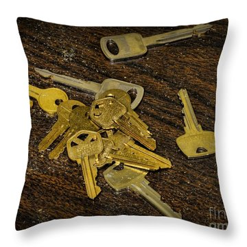 Locksmith - Rejected Keys Throw Pillow by Paul Ward