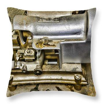 Locksmith - The Key Maker Throw Pillow by Paul Ward