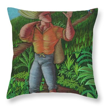 Loco De Contento Throw Pillow
