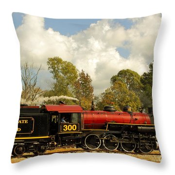 Locomotion Throw Pillow by Robert Frederick