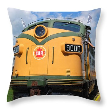 Locomotive 9000  Throw Pillow by Carol Cottrell
