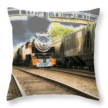 Locomotive Engine 4449 Throw Pillow