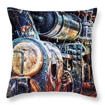 Throw Pillow featuring the photograph Locomotive by Gunter Nezhoda