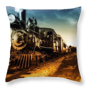 Locomotive Number 4 Throw Pillow