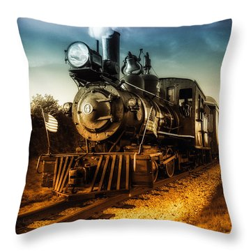 Locomotive Number 4 Throw Pillow