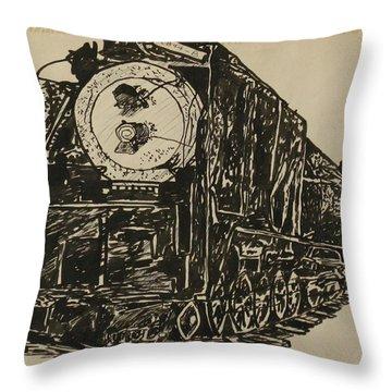 Locomotive Study Throw Pillow