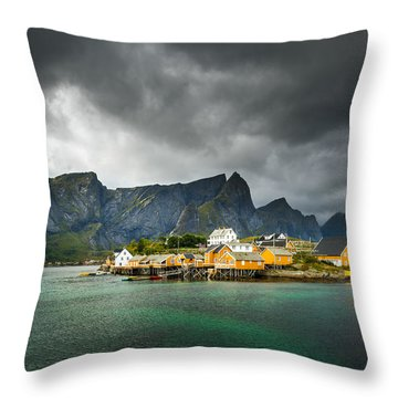 Lofoten Throw Pillow by Maciej Markiewicz