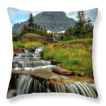 Logan Cascades Throw Pillow