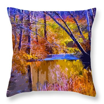 Somewhere Stream Throw Pillow