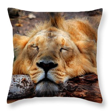Logged Out Throw Pillow