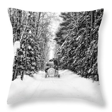 Logger's Commute Throw Pillow