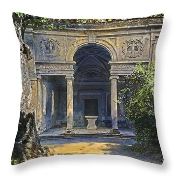 Loggia Of The Muses Throw Pillow by Terry Reynoldson