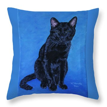 Loki Throw Pillow by Wendy Shoults