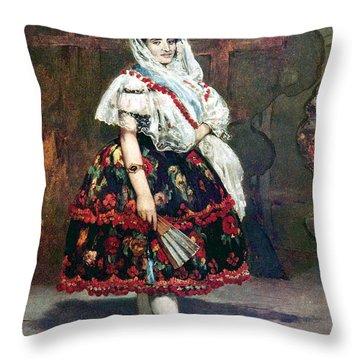 Lola Of Valencia Throw Pillow by Edouard Manet