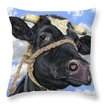 Lola Throw Pillow by Sarah Batalka