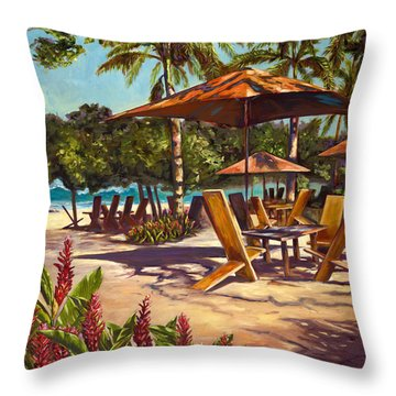 Lola's In Costa Rica Throw Pillow