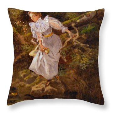 Lolly Throw Pillow by Charles Russell