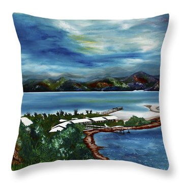 Loloata Island Throw Pillow