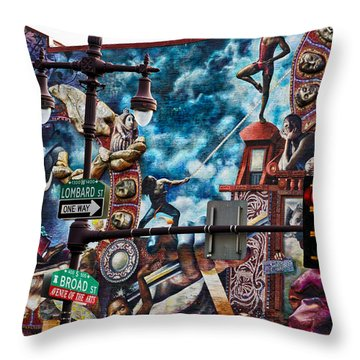 Lombard And Broad Throw Pillow