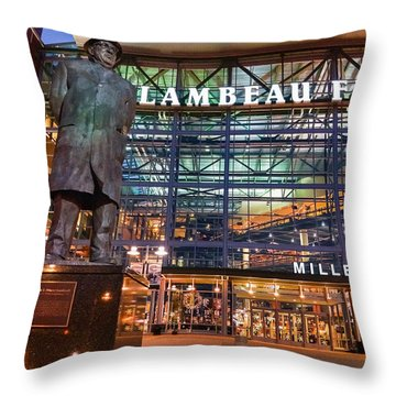 Lombardi At Lambeau Throw Pillow
