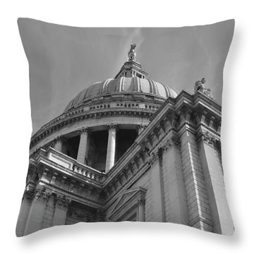 London St Pauls Cathedral Throw Pillow by Cheryl Miller