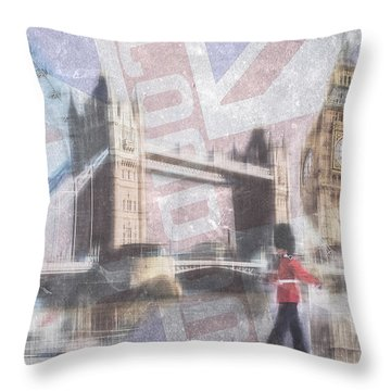 London Blue Throw Pillow