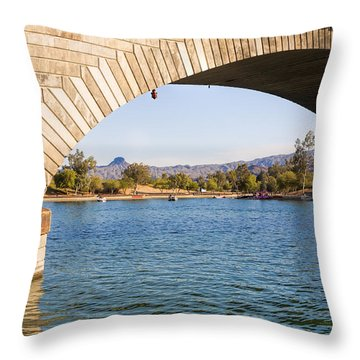 London Bridge At Lake Havasu City Throw Pillow