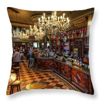 London Bridge Pub Throw Pillow